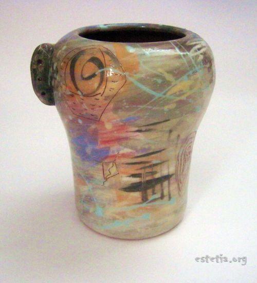 Глазирана керамична ваза