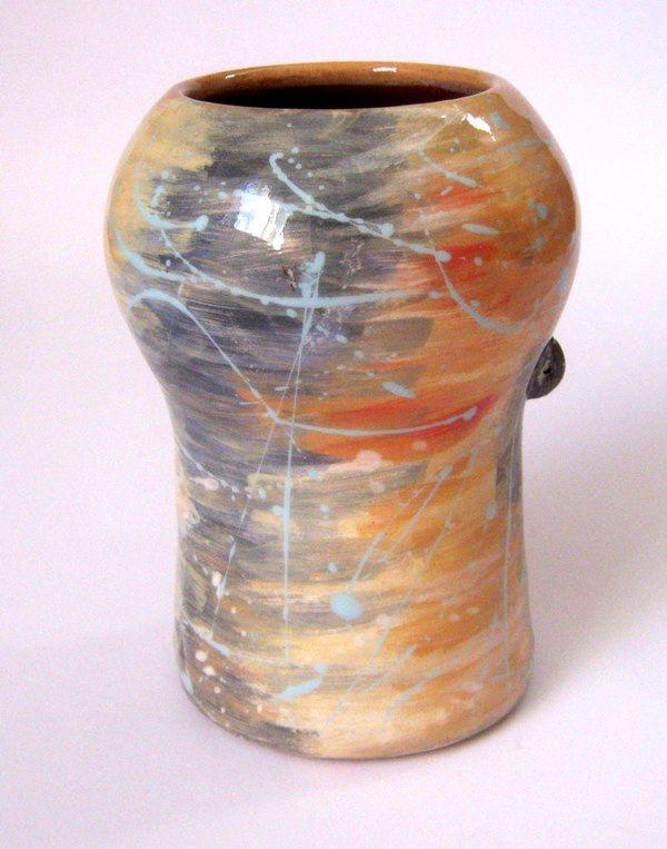 Колоритна керамична ваза