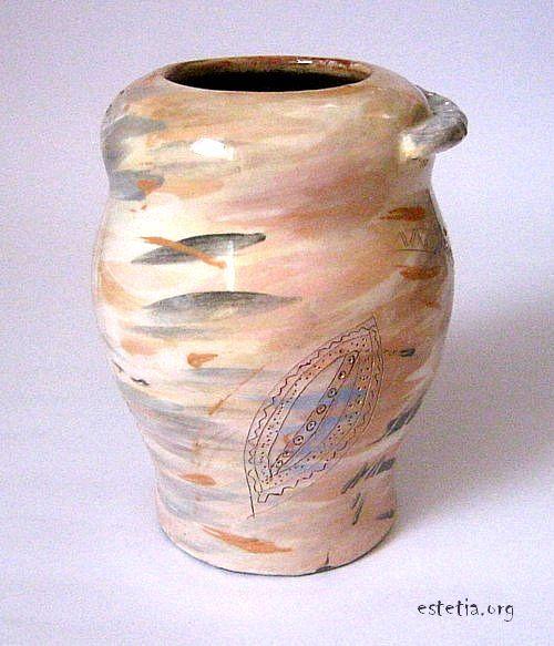 глазирана ваза - глинена
