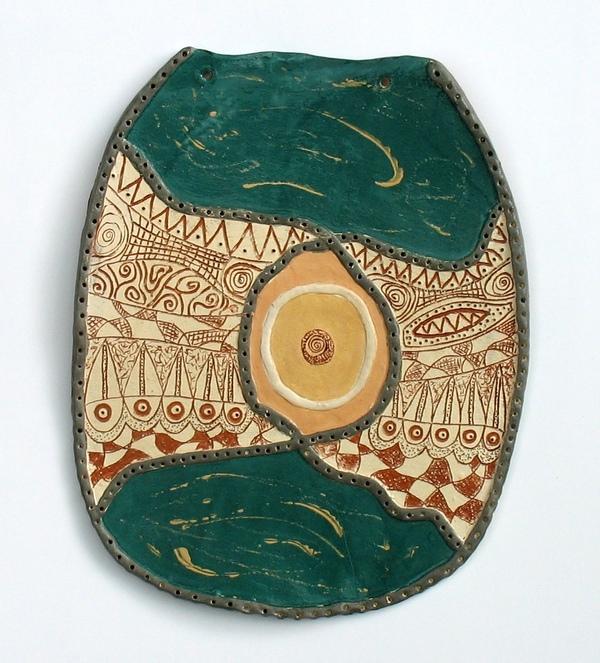 пано стенна декорация - керамика в зелено