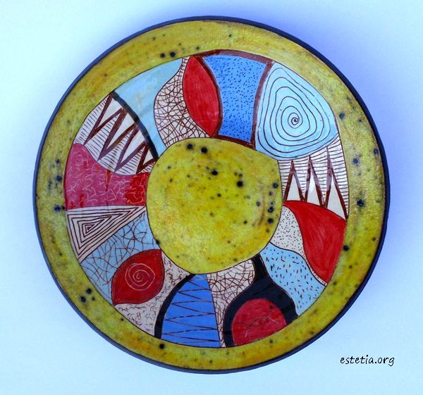арт керамика - декоративна чиния