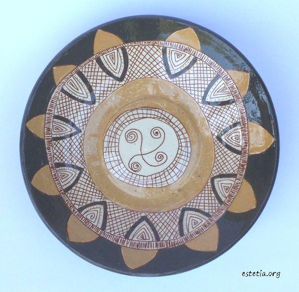 стенна чиния - керамика уникат