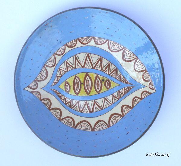 декоративна керамична чиния - украса за стена