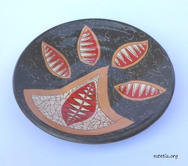 стенна декорация - арт чиния за украса