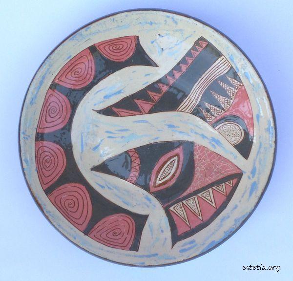 стенна арт керамика - художествена чиния уникат