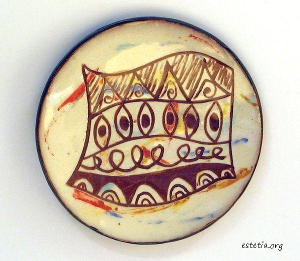 керамична чинийка - арт декорация магнитче