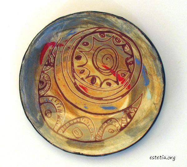 малка чинийка - декоративна керамика
