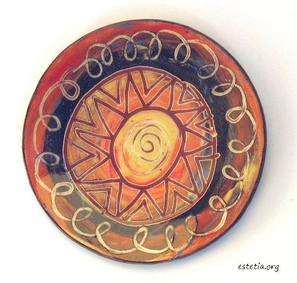 миниатюрна чиния - арт магнитче