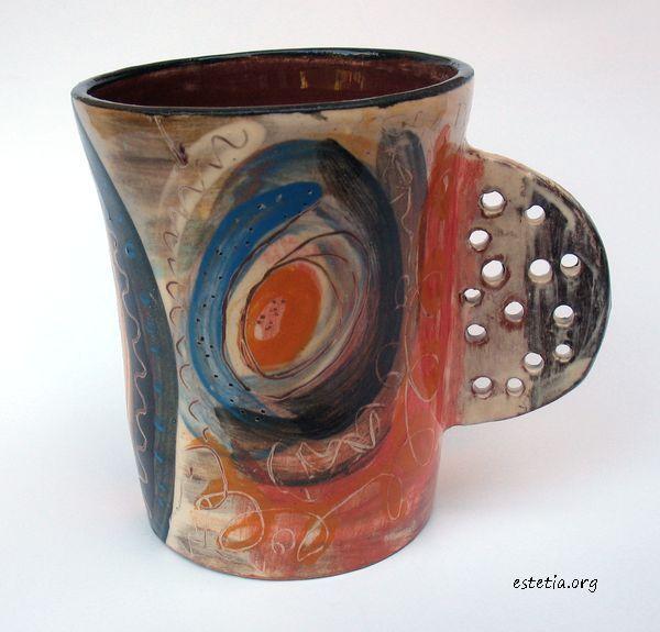 уникатна чаша - арт керамика