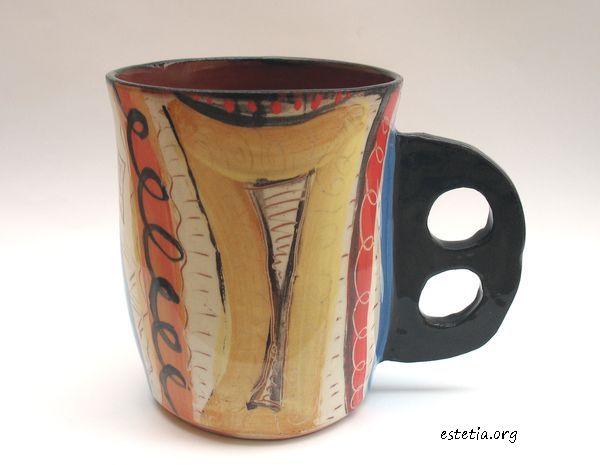 оригинална чаша керамика
