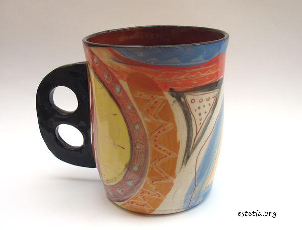 уникатна чаша от глина - арт керамика