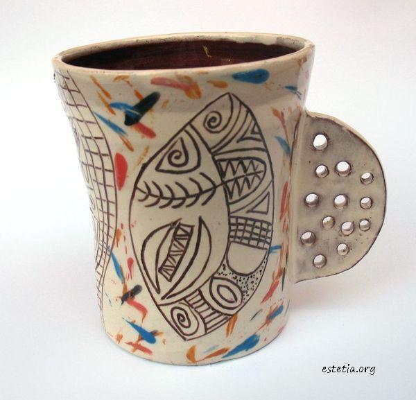 керамична чаша - бяло