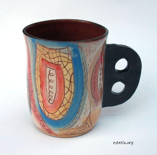 оригинална чаша - арт керамика