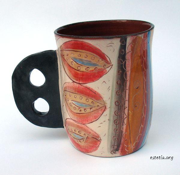 колоритна керамична чаша - чаши уникати