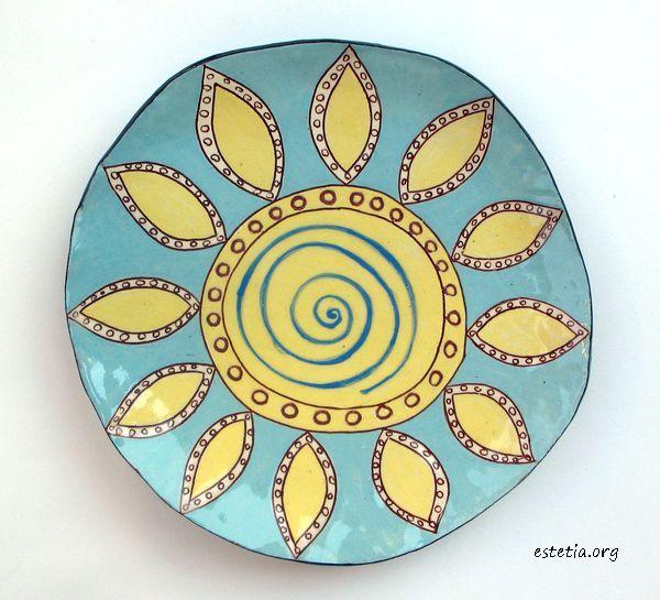 керамична арт чиния - уникат