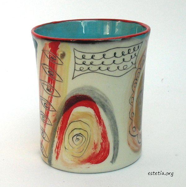 чаша без дръжка - авторска керамика