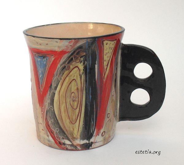 авторска чаша - ръчна изработка