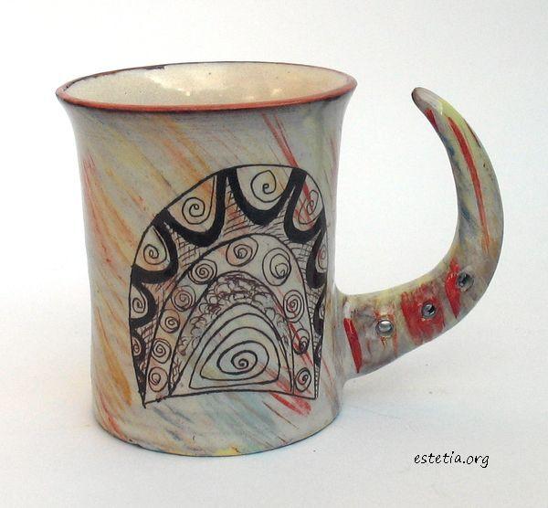 арт керамика - чаша - глинени съдове