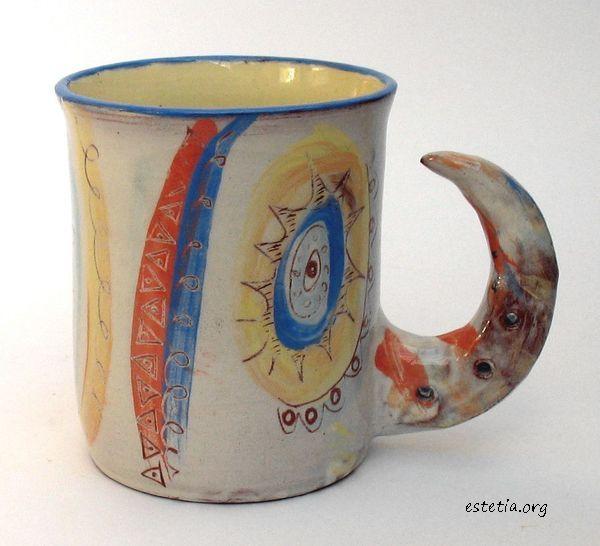 оригинална чаша - авторска керамика