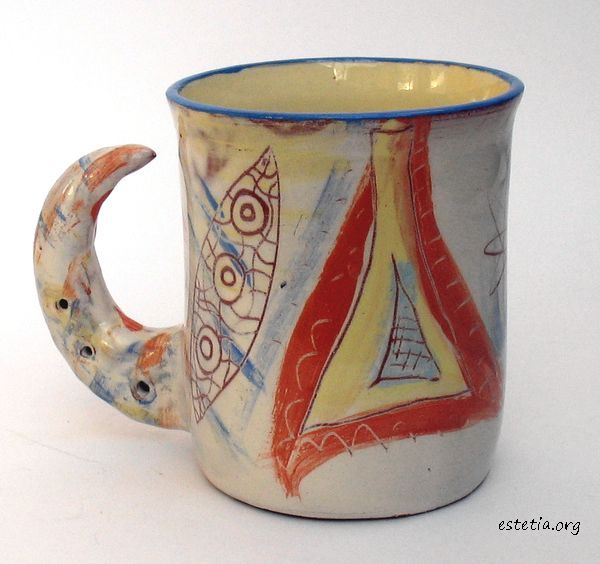 чаша уникат - изделия от глина