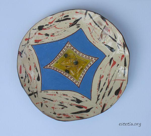 керамична чиния - фруктиера