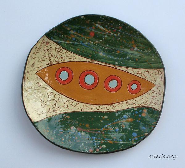 керамична фруктиера - арт чиния