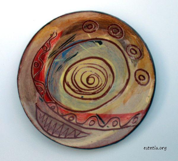 миниатюрна чинийка - керамичен магнит