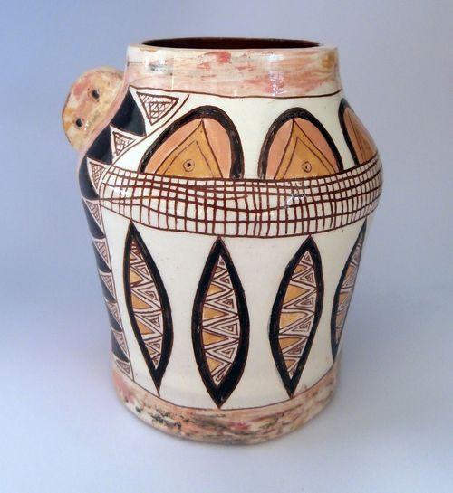 керамична ваза ръчна изработка - уникат