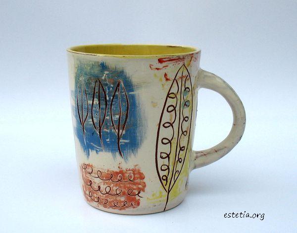 арт чаша ръчно рисувана