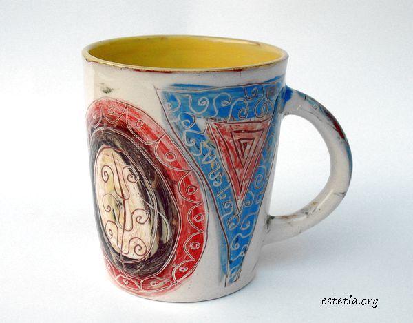 аворска рисувана чаша