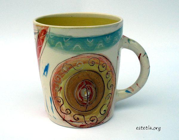 авторска чаша керамика