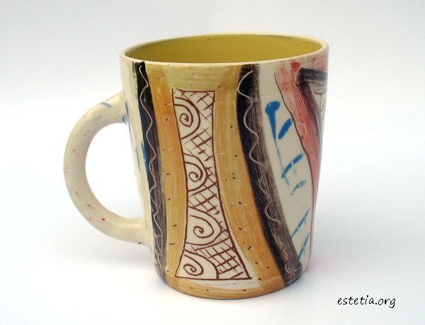оригинално изрисувана чаша